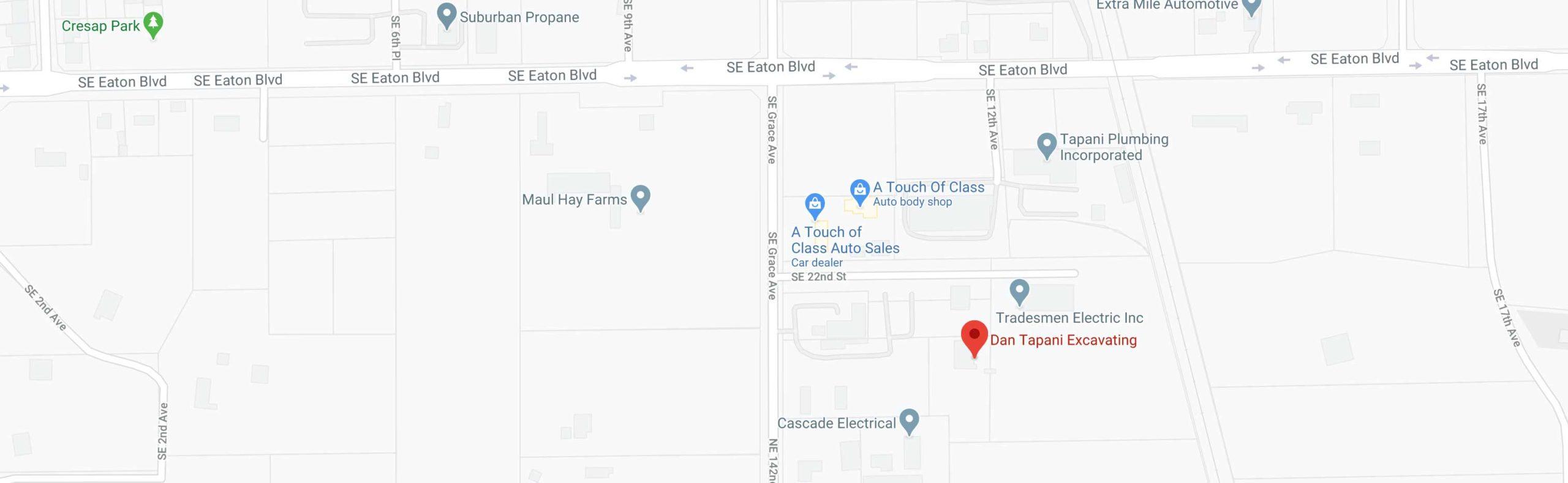 Dan Tapani Excavating Location on Google Maps